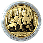 Chinese Gold Panda 2010 - 1 oz thumbnail