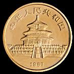 Chinese Gold Panda 1987 - 1 oz thumbnail