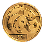 Chinese Gold Panda 2008 - 1/10 oz thumbnail