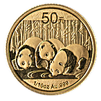 Chinese Gold Panda 2013 - 1/10 oz thumbnail