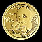Chinese Gold Panda 2019 - 1 g thumbnail