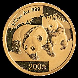 Chinese Gold Panda 2008 - 1/2 oz