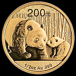 Chinese Gold Panda 2011 - 1/2 oz