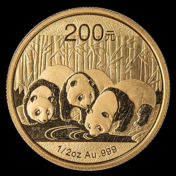 Chinese Gold Panda 2013 - 1/2 oz