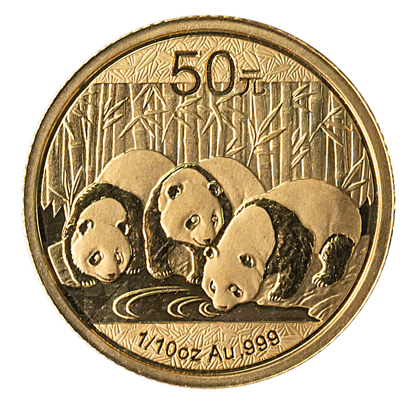 Chinese Gold Panda 2013 - 1/10 oz