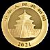 Chinese Gold Panda 2021 - 15 g thumbnail