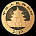 Chinese Gold Panda 2013 - 1/4 oz thumbnail