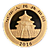 Chinese Gold Panda 2016 - 1 g thumbnail