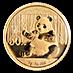 Chinese Gold Panda 2017 - 3 g thumbnail