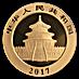 Chinese Gold Panda 2017 - 8 g thumbnail