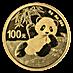 Chinese Gold Panda 2020 - 8 g thumbnail