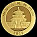Chinese Gold Panda 2019 - 8 g thumbnail