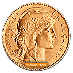 French Gold 20 Franc - Various Years - 5.81 g gold thumbnail