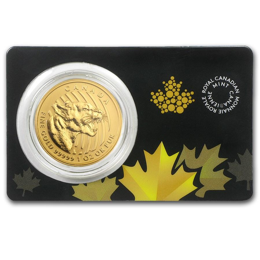 Canadian Gold Growling Cougar 2015 1 Oz Bullionstar