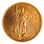 US $20 St. Gaudens Double Eagle 1924 - Graded MS 62 by NGC - 0.9675 oz thumbnail