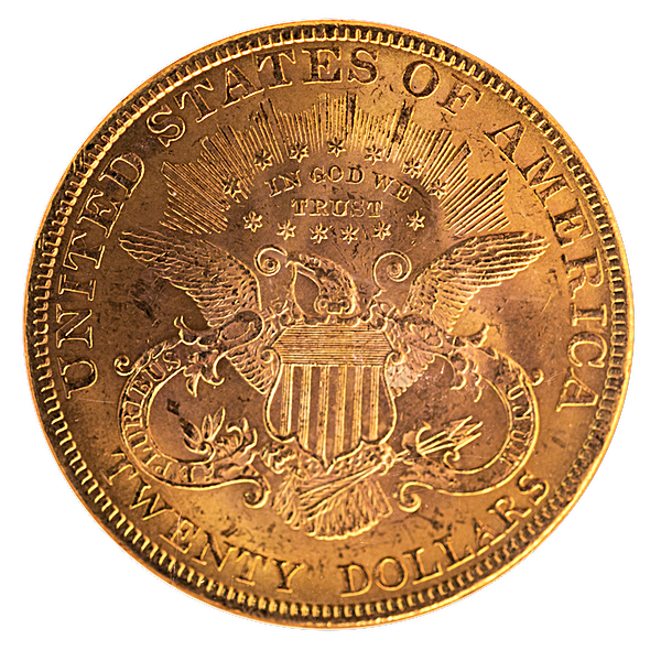 Liberty Gold Double Eagle 1894 - Graded MS 62 by NGC - 0.9675 oz
