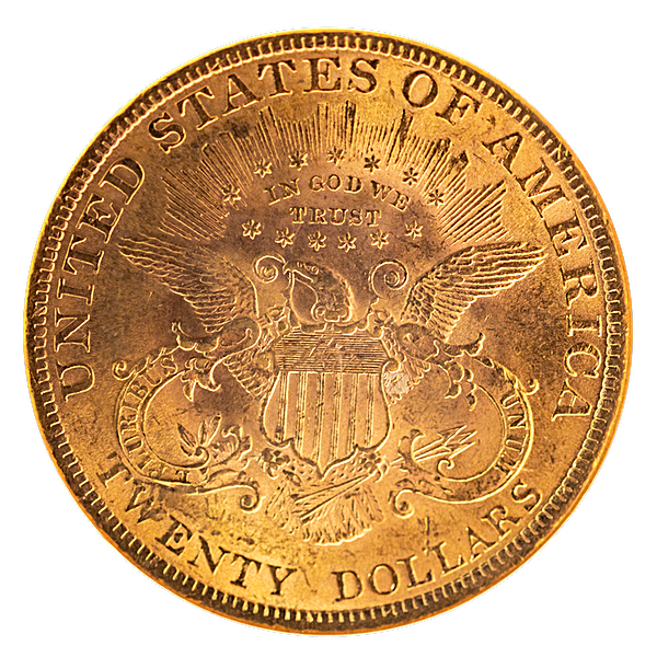 Liberty Gold Double Eagle 1899 - Graded MS 62 by NGC - 0.9675 oz