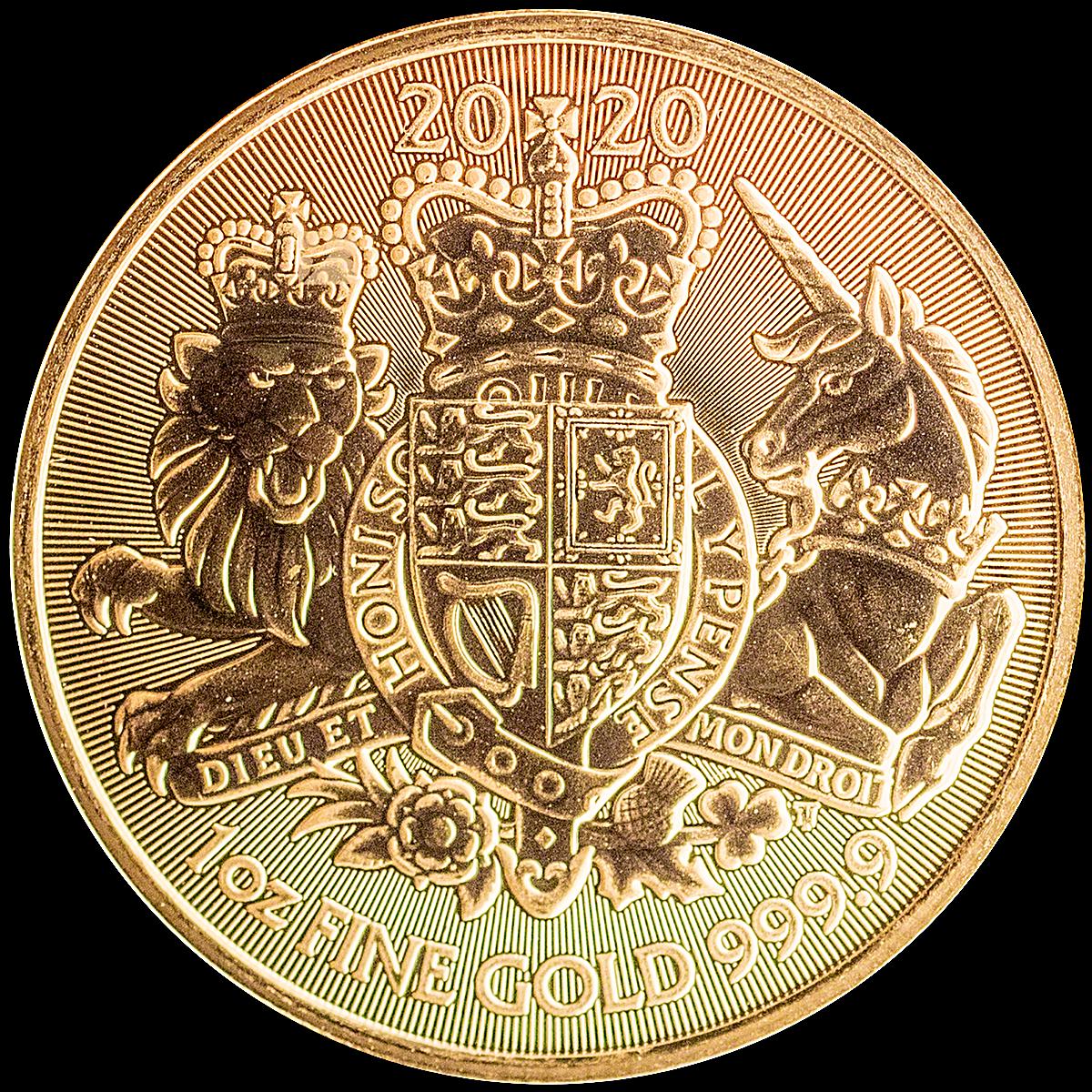 UK Gold Royal Arms 2020 - 1 Oz