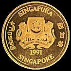 Singapore Gold Lion 1991 - 1/20 oz thumbnail