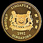 Singapore Gold Lion 1992 - 1/2 oz thumbnail