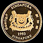 Singapore Gold Lion 1993 - 1/10 oz thumbnail