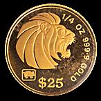 Singapore Gold Lion 1995 - 1/4 oz  thumbnail