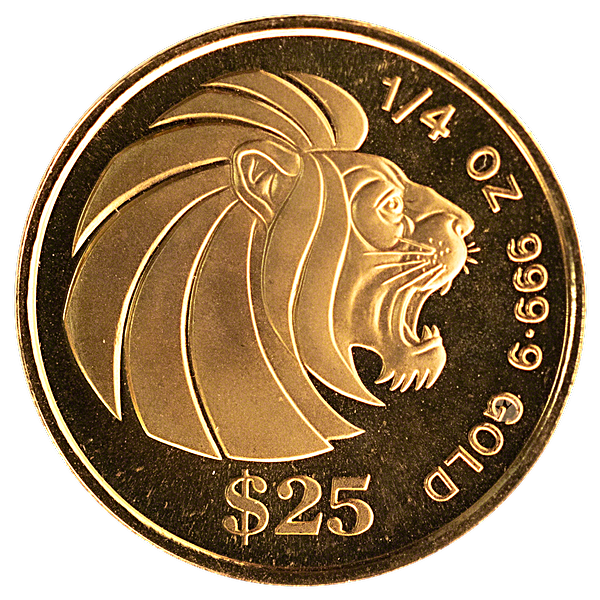 Singapore Gold Lion 1990 - 1/4 oz