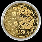 Singapore Mint Gold Dragon 2000 - 1 oz  thumbnail