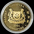 Singapore Mint Gold Snake 2001 - 1 oz thumbnail