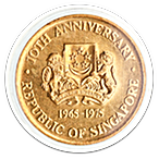 Singapore Mint 10th Anniversary of the Republic of Singapore 1965-1975 - Multi Racialism - 15.55 g gold thumbnail