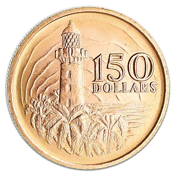 Singapore 150th anniversary commemorative coin 1969 - 150 dollars - 22.79 g gold