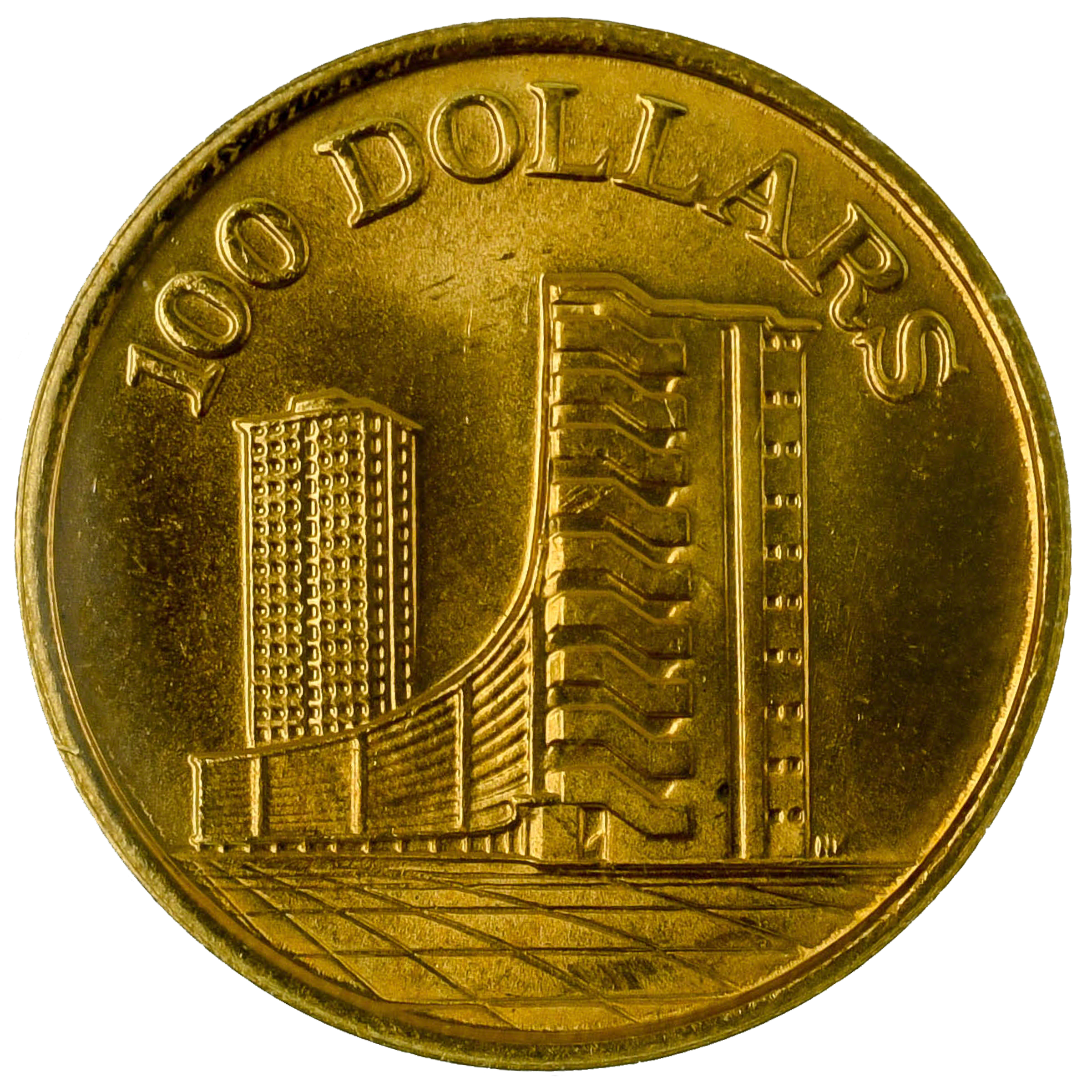Singapore Mint 10th Anniversary Of The Republic 1965 1975 Hdb 5 44 G Gold