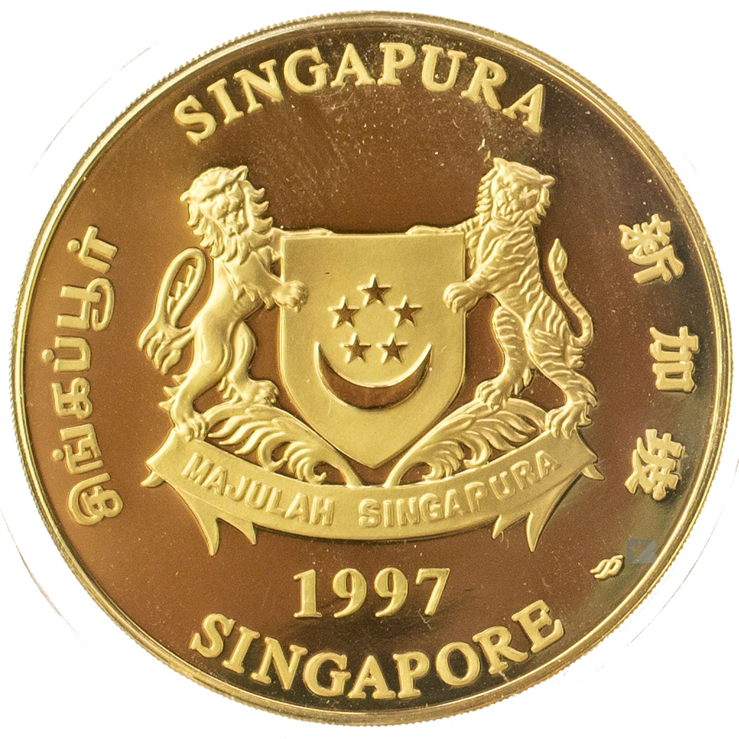 Singapore gold lunar series 1997 year of the ox 1 oz biocorpaavc