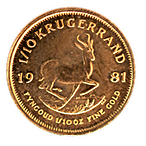South African Krugerrand - Various years - 1/10 oz thumbnail