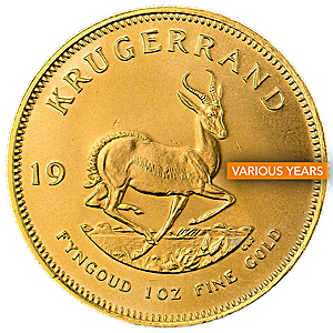 South African Gold Krugerrand - Various Years - 1 oz