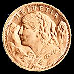 Swiss Gold 20 Francs Vrenelli - 5.81 g  thumbnail