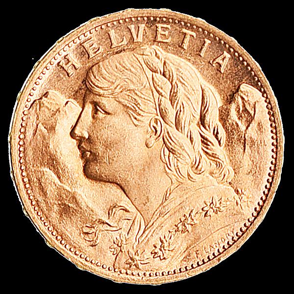 Swiss Gold 20 Francs Vrenelli - 5.81 g