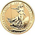 United Kingdom Gold Britannia 2017 - 1 oz thumbnail