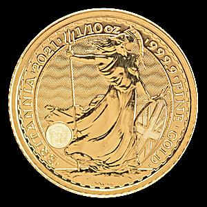 United Kingdom Gold Britannia 2021 - 1/10 oz