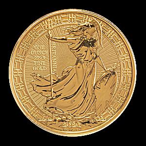 United Kingdom Gold Oriental Border Britannia 2020 - 1 oz