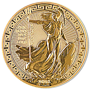 United Kingdom Gold Oriental Border Britannia 2018 - 1 oz