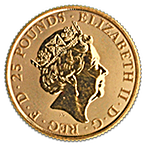 United Kingdom Gold Queen's Beast 2018 - Black Bull - 1/4 oz thumbnail
