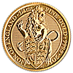 United Kingdom Gold Queen's Beast 2016 - Lion - 1/4 oz thumbnail