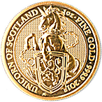 United Kingdom Gold Queen's Beast 2018 - Unicorn - 1 oz thumbnail