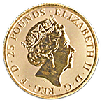 United Kingdom Gold Queen's Beast 2019 - The Falcon - 1/4 oz thumbnail