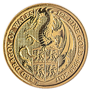 United Kingdom Gold Queen's Beast 2017 - Dragon - 1 oz