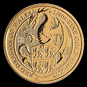 United Kingdom Gold Queen's Beast 2017 - Dragon - 1/4 oz