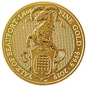 United Kingdom Gold Queen's Beast 2019 - The Yale - 1/4 oz