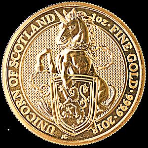 United Kingdom Gold Queen's Beast 2018 - Unicorn - 1 oz