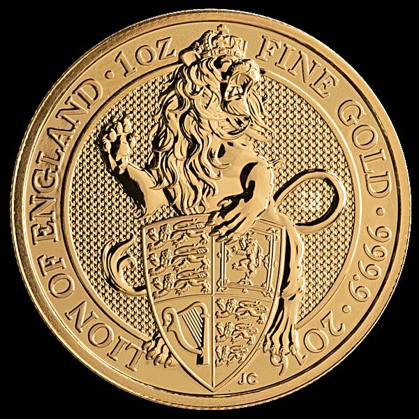 United Kingdom Gold Queen's Beast 2016 - Lion - 1 oz